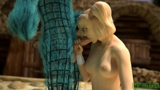 Wooly Comfort. 3D Monster fucks Blonde