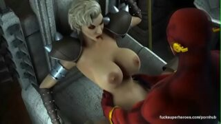 3d huge tits tight pussy blonde fucked by superman