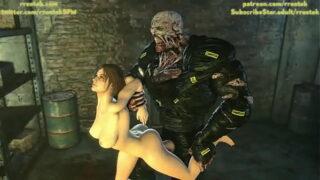 Jill Valentine and Nemesis 3D Animation