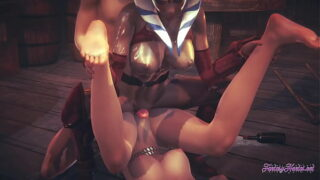 Starwars Hentai Threesome Ahsoka Leia 3D 4K – Lick and suck a dick with cumshot in a mouth and fuck both at same time