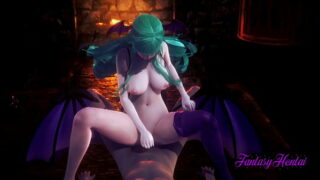 Darkstalkers Hentai – Morrigan  Blowjob and fucked with multiple cum – Anime Manga Porn
